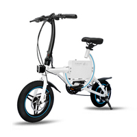 LUTEWEI Intelligent electric folding bike lithium battery Velocity sensing Mini electric scooter double wheel assistance adult
