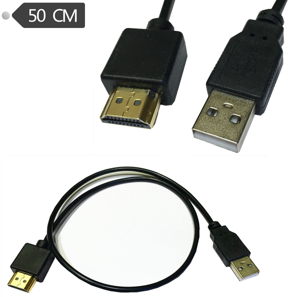 50cm Hdmi Male A  V Adapter Usb 2 0 Power Supply Connector