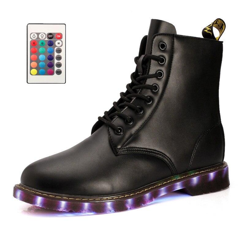 New Brand Men Western Led Shoes Lantern High Top Light Up Black 7 Colors Luminous Shoes Led Glow