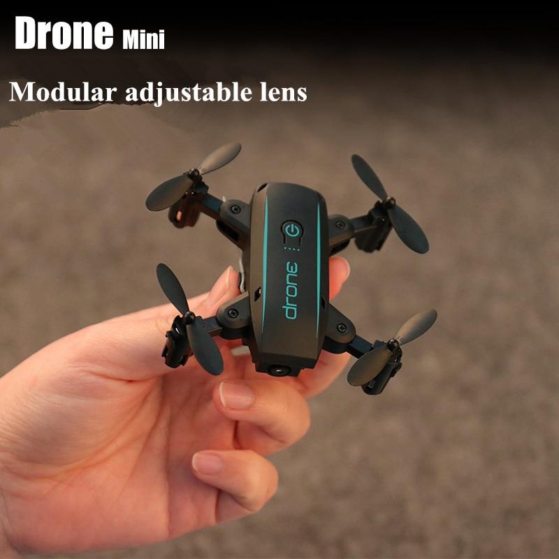 Wifi FPV mignon Selfie Mini Drone et caméra hélicoptère hauteur garder radiocommande enfants jouet Drone quadrirotor pliant Drone - 3