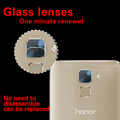 Anti-shatter lente de la cámara trasera premium vidrio templado película protectora para huawei honor 7 volver lente de la cámara a prueba de explosión de películas