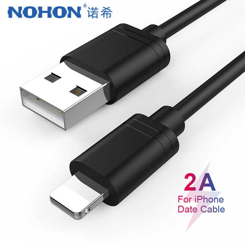 NOHON TPE USB Data Charging Cable Lighting For iPhone X XS MAX XR 8 7 6 6S 5 5s Plus Charge Sync Cord Line For ipad Mini 1 2 3 4 in Mobile Phone Cables from Cellphones Telecommunications