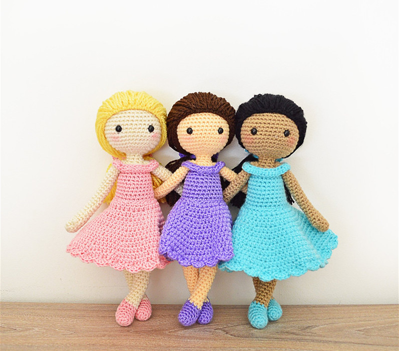 Crochet Toys  Amigurumi  Doll Beautiful Girl Number  WS0010