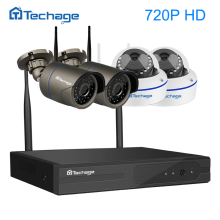 Techage 4CH 1080 P Wireless NVR 720 P Wifi Sicherheit CCTV-System 1.0MP Dome Indoor Outdoor Ip-kamera P2P Surveillance Kit APP ansicht