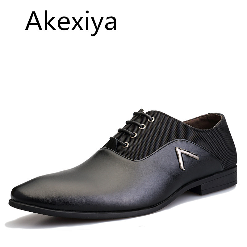 Avocado Store Akexiya Big Size 38-47 New Fashion Men Dress Shoes, Casual Simple Leather Men Oxford, High Quality Oxford Shoes For Men
