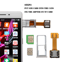 Card-Adapter Phone-Parts Sim-Slot Nano-Cato Hybrid Micro-Sd-Extender Android Dual TF