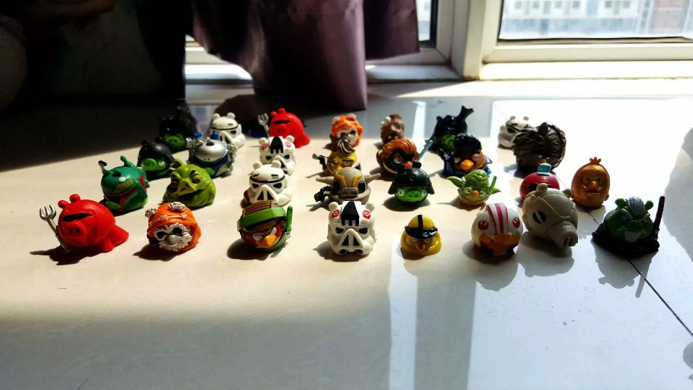 12pcs/lot different Star Wars anime small star cartoon birds Battle Fight PVC toys action figure toy Star Wars for kids gifts saintgi star wars bb8 action figure night light pvc 15cm model toys kids gifts collection free shipping