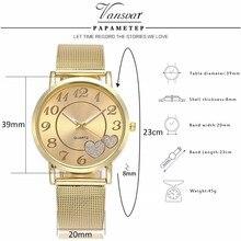 Dropshipping Women Silver & Gold Mesh Love Heart Dial Wristwatches Fashion Casual Women's Steel Quartz Watches Relogio Feminino