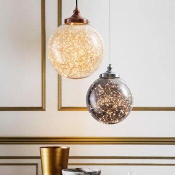Modern Mosaic Light Rattan Pendant Accesories Lamp Led Vintage Industrial Luminaire Singe Bedroom