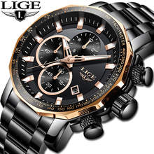 2019 LIGE New Sport Mens Watches Top Brand Luxury Quartz Full Steel Male Clock Military Waterproof Date Chronograph Reloj Hombre
