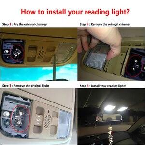 Image 5 - 2 sztuk samochodów lampa LED w kształcie kopuły 12  SMD CoB wnętrze auta samochodu mapa kopuła licencja płytka wymienna zestaw oświetleniowy biała lampa zestaw