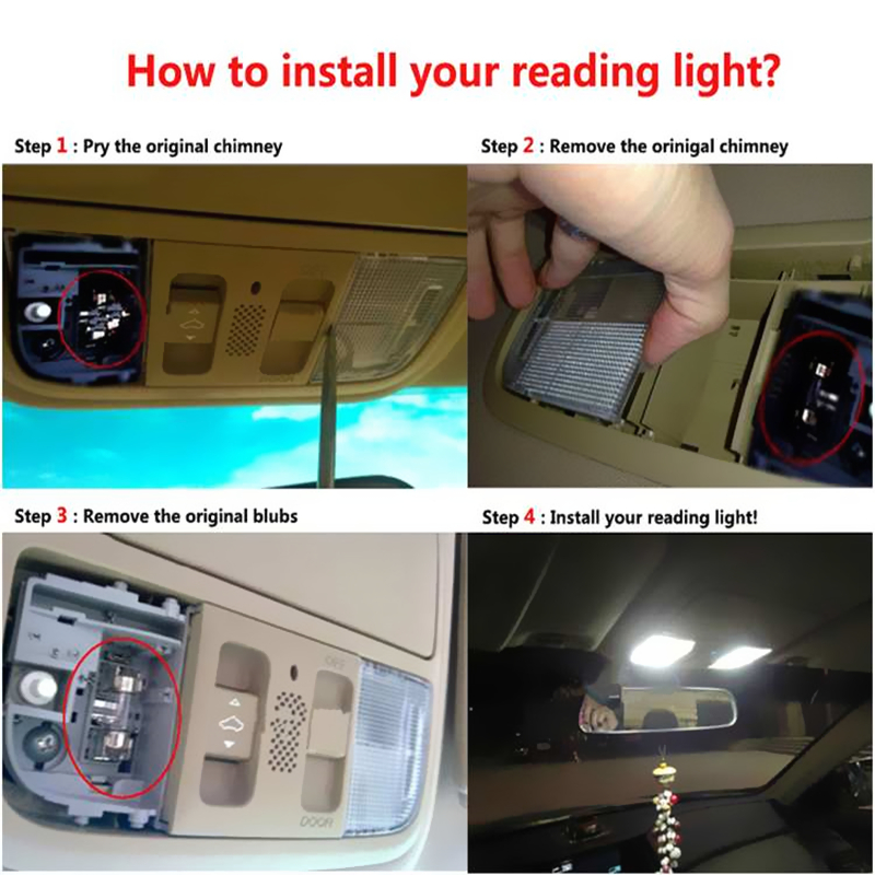 Image 5 - 2pcs/lot LED Dome light 12  SMD CoB  Car Auto Interior Map Dome License Plate Replacement Light Kit White Lamp Set-in Car Headlight Bulbs(LED) from Automobiles & Motorcycles
