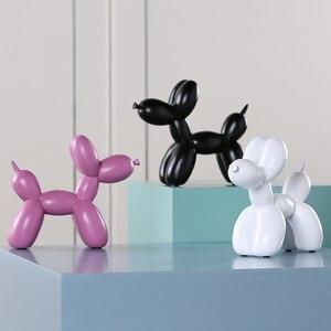 Image 5 - New Fashion resina palloncino cane artigianato scultura regali creativi moderno semplice decorazioni per la casa statue 8 colori ornamento da tavolo