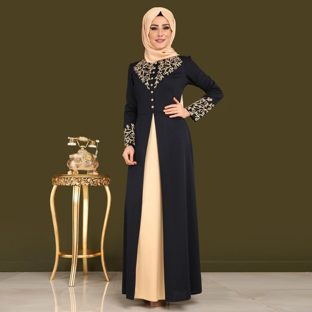 Gold Stamping Printing Abaya Dubai Islam Cardigan Hijab Muslim Dress For Women Qatar UAE Oman Caftan Robe Turkish Indian Dress
