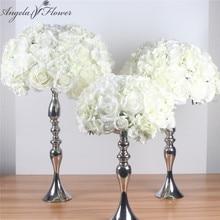 Artificiale di seta di nozze centrotavola sfera del fiore FAI DA TE tutti i tipi di teste di fiore di nozze decorazione della parete negozio di finestra tavolo accessorie 4 formati