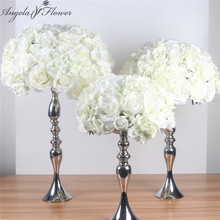 Silk artificial centerpieces flower ball DIY all kinds of flower heads wedding decor wall shop window table accessorie 4 sizes