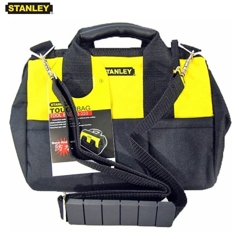 Stanley tool bag organizer with shoulder belt electrician bags nylon waterproof technician tools storage light folding