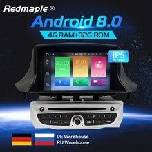 c44ef3857 IPS Tela Android 8.0 Car DVD Player GPS Navigation 3 Estéreo Multimídia  Para Renault Megane Fluence 2009-2015 Auto rádio de Áudi.