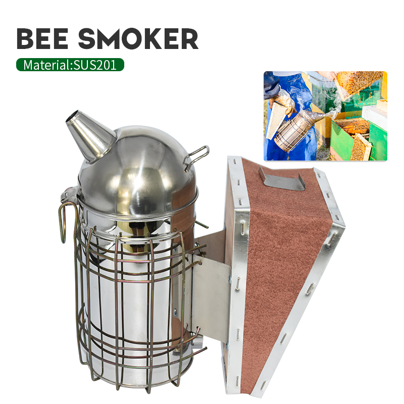 Beekeeping Stainless Steel Manual Bee Smoke Transmitter Kit Beekeeping Tool Apiculture Beekeeping Tool Bee Smoker