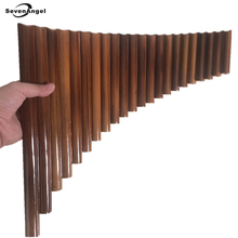 SevenAngel 100% Handmade 22 Pipes Bamboo PanFlute Professional Woodwind Flute Panpipes G key Musical Instrument with black bag