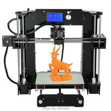 Автоматическое Выравнивание 3D Принтер DIY KIT A6 LCD 12864 Объем Печати 220*220*250 мм Накаливания 1.75 мм печать Точность 0.1-0.2 мм
