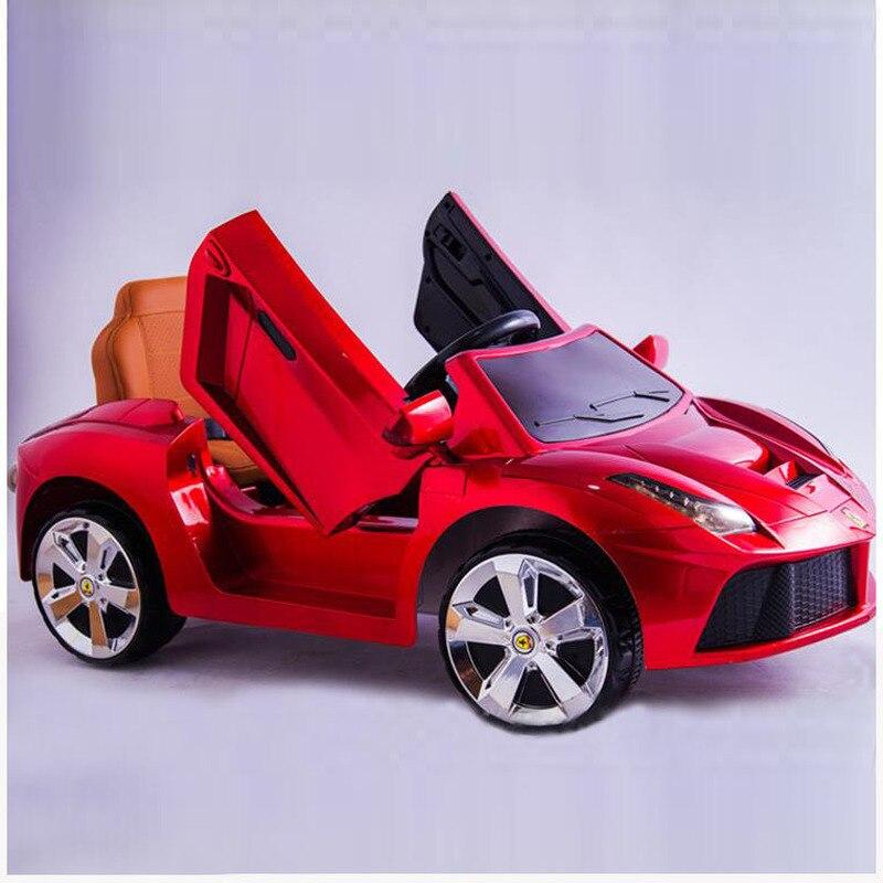 Enfants voiture-jouet électrique pour Enfants Unique double Lecteur Quatre Roues Rechargeable télécommande Voiture Flash Musique Tour sur la Voiture RC 1 ~ 5
