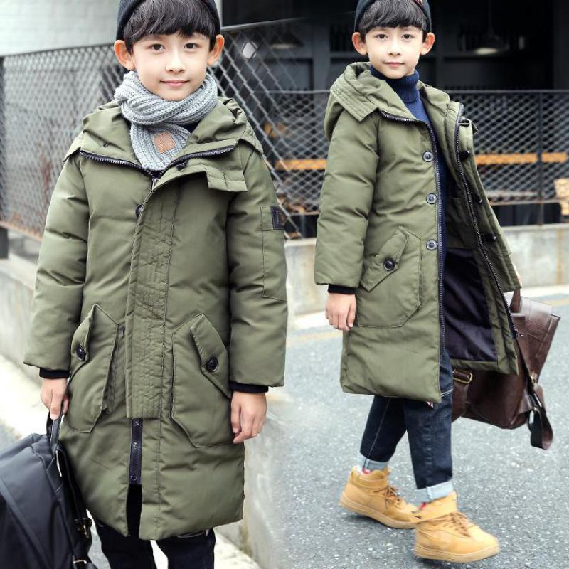 Cotton Parkas Long Down Coat 2018 Warm Outerwear Cheap Clothes Erkek Mont Kaban Snowsuits Winter Jackets For Teenage 10 12 Year