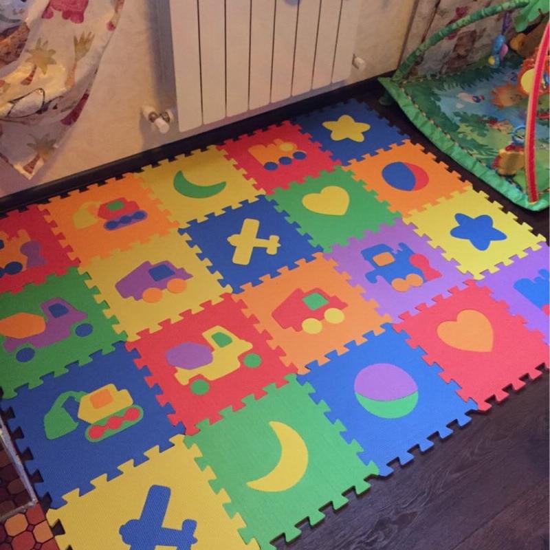 10pcs Cartoon Eva Puzzle Mats Foam Jigsaw Puzzle Mats
