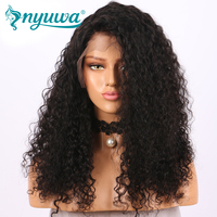 NYUWA 150% density Full Lace Human Hair Wigs Bleached Knots Brazilian Remy Hair Curly Wigs Pre Plucked Hairline With Baby Hair
