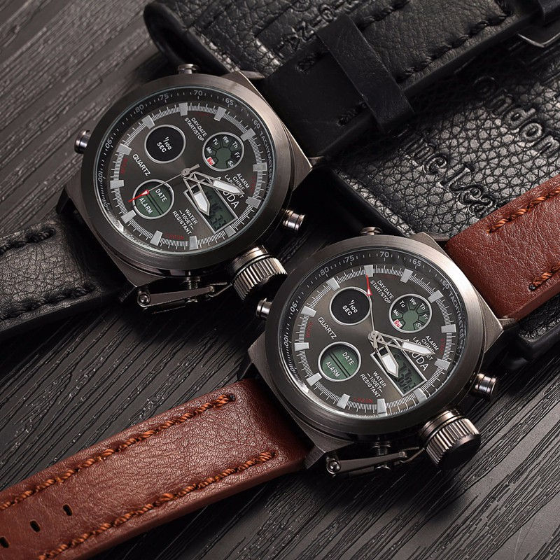 Amuda Men Military Sport Watch