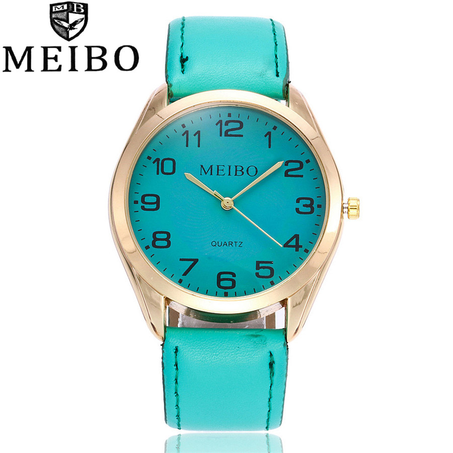 2017 MEIBO Brand New Fashion Women Wristwatch Luxury Leather Strap Quartz Watch Relogio Feminino Gift Clock MB01 miler vintage fashion watch women retro leather strap world map casual quartz wristwatch ladies creative clock relogio feminino