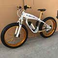 Strong Electric Snow Bicycle Moped Mountain Bike,With Battery, 26x4.0 Wheel,Oil Brake