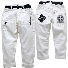 3942 Children's clothing children's clothes baby boys pants casual SPRING&AUTUMN boy girl fashion white trousres 2-6 years