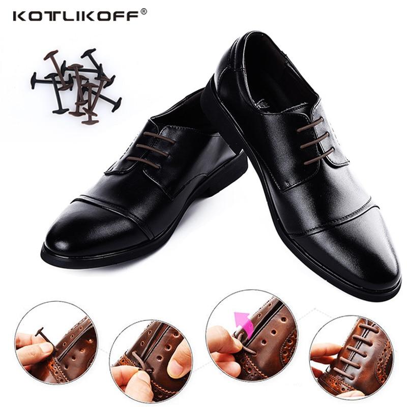 10pcs/lot Silicone No  Tie Shoelaces New Elastic Shoe Laces Unisex All Fit Strap Business Shoes Rubber Shoelaces Lazy Laces