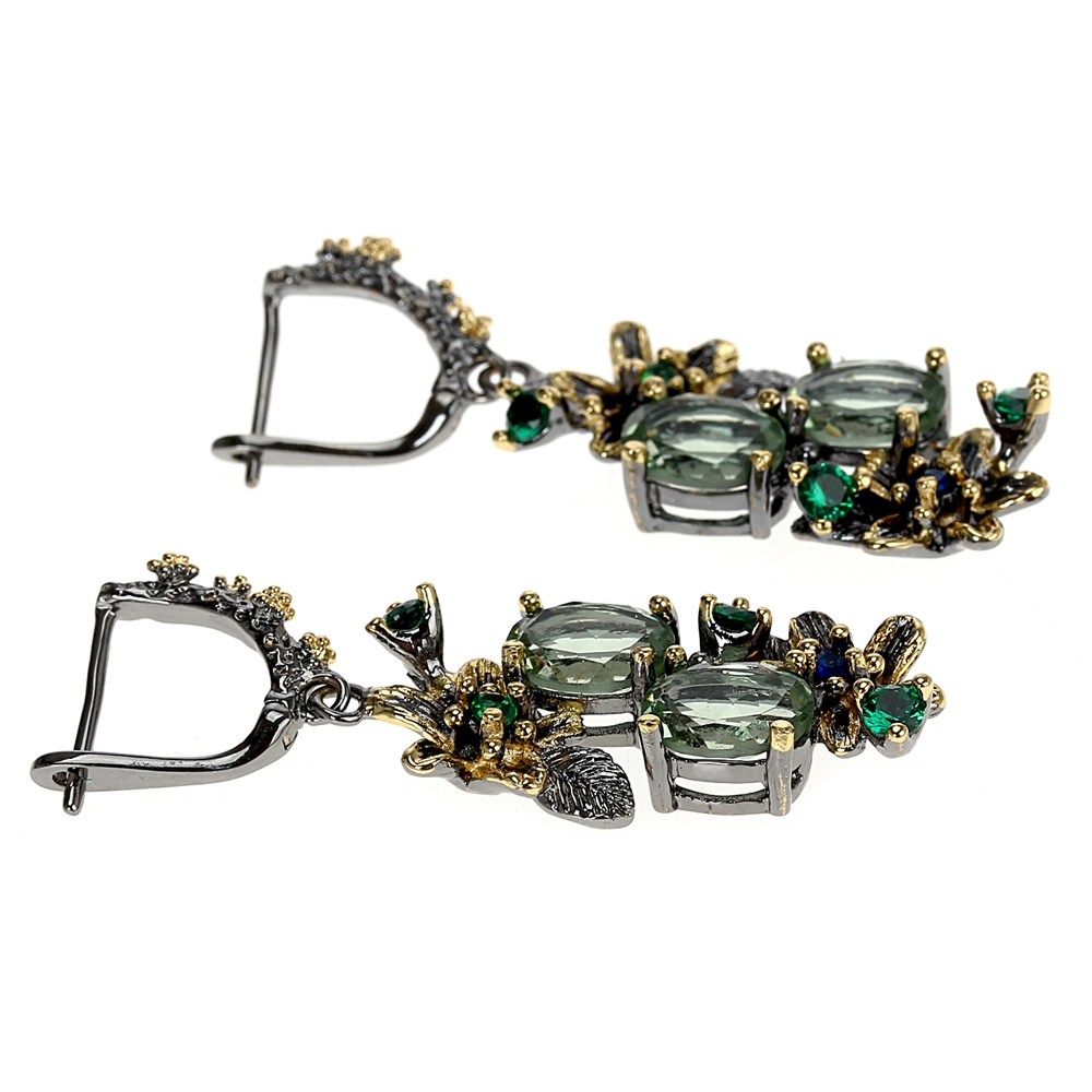 WE3874 vintage luxury zirconia  drop earrings women (5)