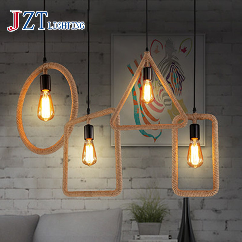 T Loft Industrial Creative Pendant Light Indoor Simple Novelty Lighting For Bar&Restaurant American style Hemp rope Lamp ultra thin pc d525 motherboard fanless mini itx motherboard with onboard ddr3 2gb ram
