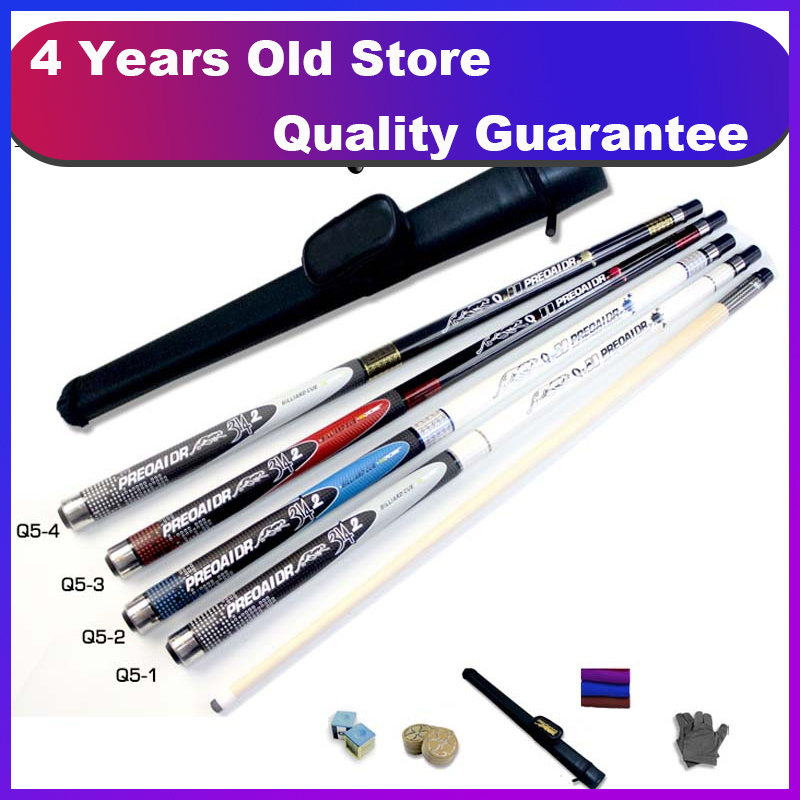 New PREOAIDR Billiard Pool Cues Stick 11.5mm 13mm Tip 4 Colors Options with Pool Cue Case 2018-in Snooker & Billiard Cues from Sports & Entertainment    1
