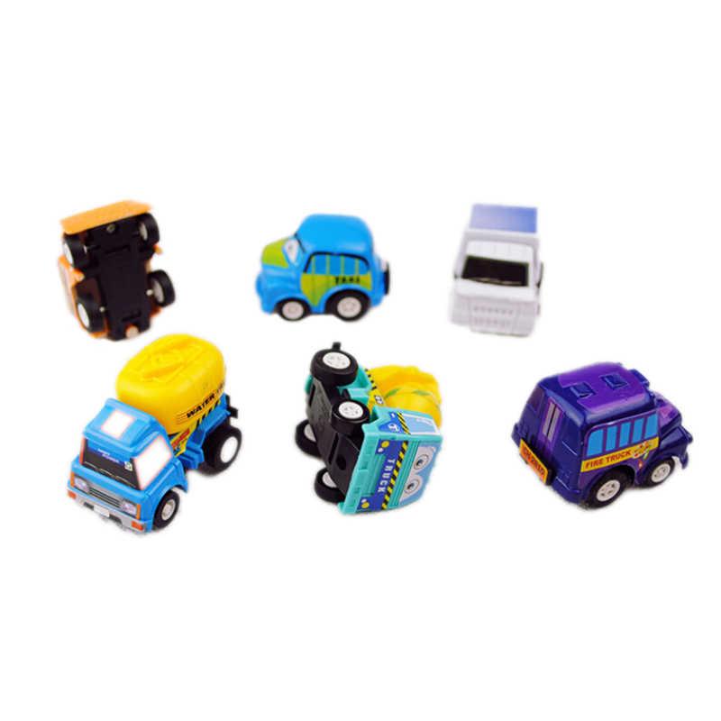 6/סט מיני חמוד משאית מכונית כלי רכב ילד ילדי ילד צעצוע חג המולד מסיבת יום הולדת מתנה