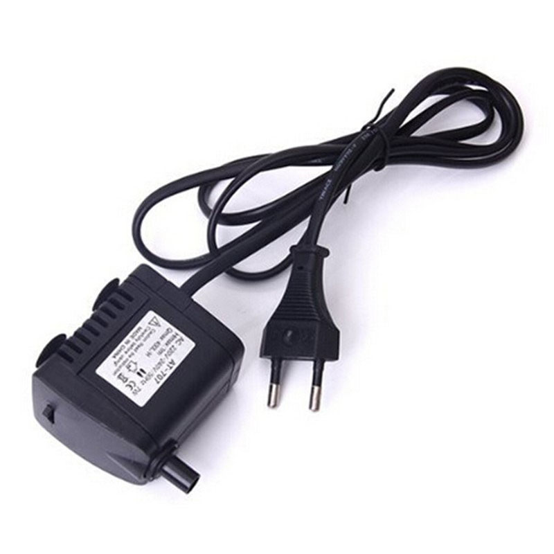 Mini Submersible Water Pump Hydroponic for Aquarium Rockery Fountain Fish  Pond Tank AC 220 7W Fish Tank Accessories HR