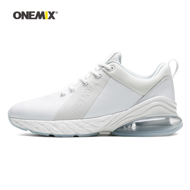Onemix Woman Running Shoes For Women White Leather Max Gym Yoga Athletic Sneaker Sport Outdoor Jogging Walking Trekking TrainersOnemix Woman Running Shoes For Women White Leather Max Gym Yoga Athletic Sneaker Sport Outdoor Jogging Walking Trekking Trainers