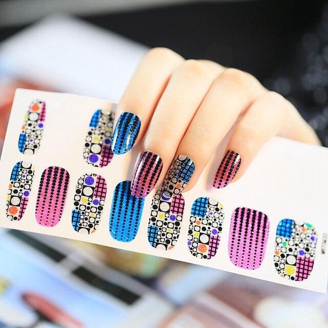 Online Shop Wonderful Polka Dot Nail Art Sticker Purple Blue Polish ...