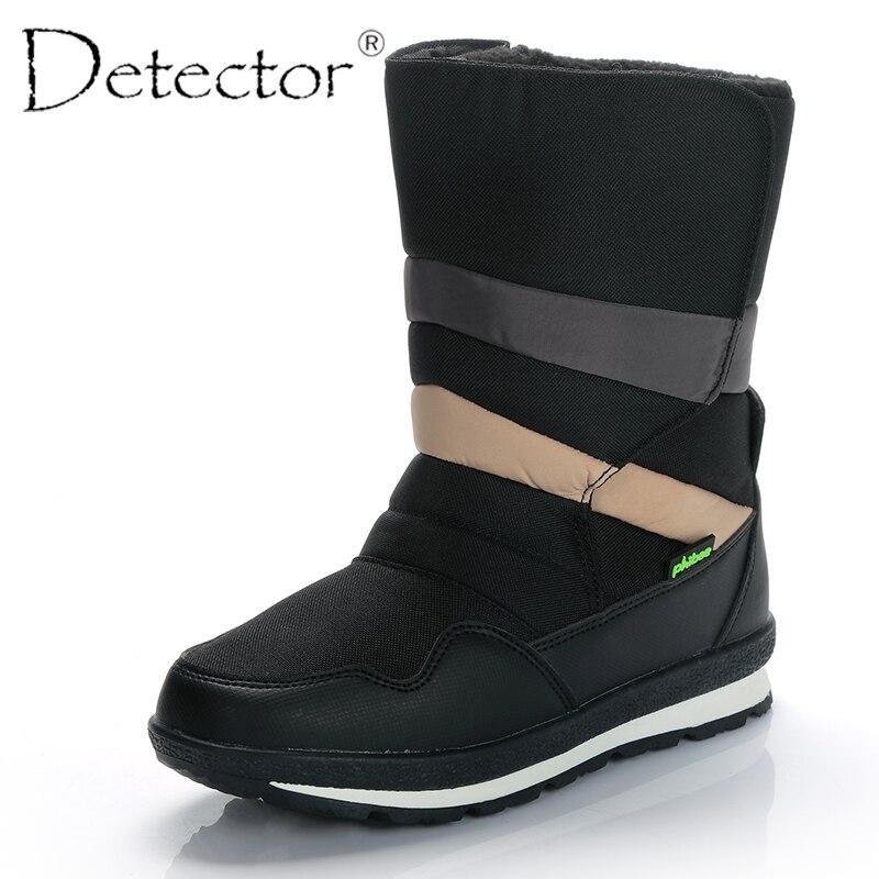 Detector/мужские непромокаемые зимние сапоги, уличные охотничьи утепленные сапоги, теплая обувь на меху, зимние военные сапоги для мужчин