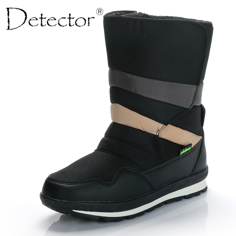 Detector Men Waterproof Snow Boots Outdoor Hunting Thickening Thermal Boots Warm Fur Shoes Winter Military Boots Male