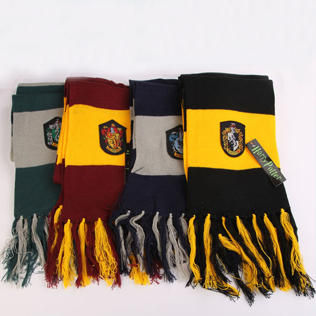 New Style Movie Clothes Fashion Harry Potter Scarves Ravenclaw Scarf Hufflepuff Scarf Gryffindor Magic School Slytherin Scarves