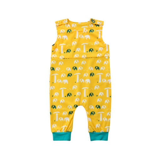 3a088a245ab7 Toddler Baby Girls Boy Mammoth Romper Jumpsuit Outfits Set Sunsuit ...