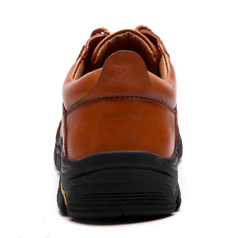 Souple En Cuir Véritable Boot Casual Marche Cheville Printemps brown Hommes 2019 Black Automne Chaussures De Bottes Clax H76SO