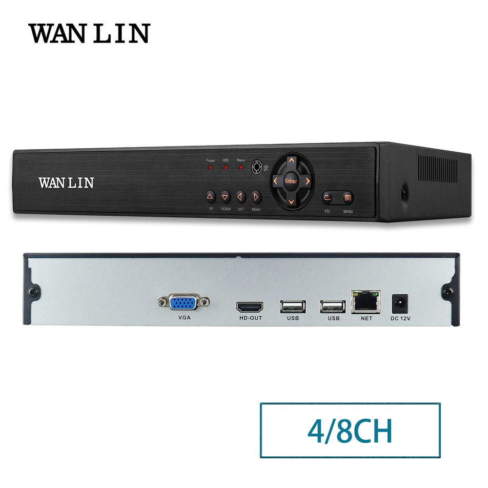 WANLIN New Arrival 4CH 8CH H.265 5MP NVR for 5MP 4MP IP Network Surveillance Camera XM Cloud зимняя шина nokian hakkapeliitta 8 suv 265 50 r20 111t