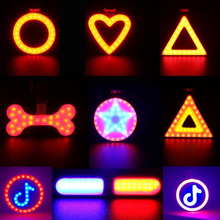 цена на Bike Bicycle Light LED Taillight Rear Tail Safety Warning Cycling Portable Light, USB Style Rechargeable Creative Bicycle Light