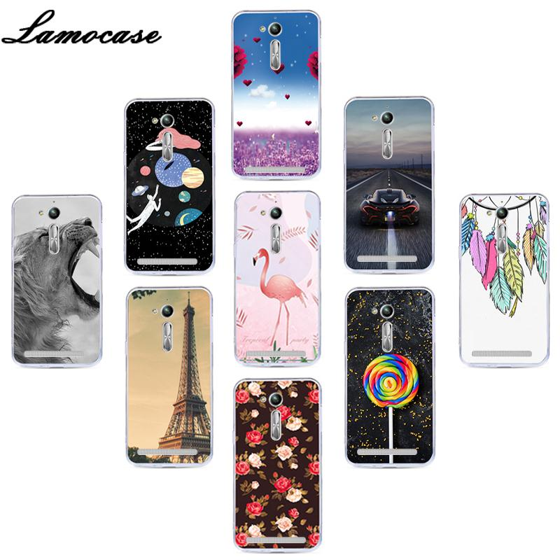 Lamocase Soft TPU Phone Case For <font><b>ASUS</b></font> ZB500KL X00AD Zenfone Go ZB500 ZB <font><b>500</b></font> <font><b>KL</b></font> 500KL ZB500KG Animal Fruit Print Back Cover Cases image