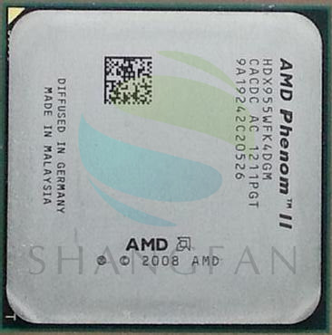 AMD Phenom II X4 955 95W Quad-Core DeskTop CPU HDX955WFK4DGM Socket AM3 938pin